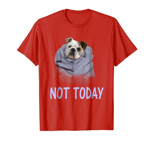 6ce5ffe9 Amazon.com: Not Today - Funny Lazy Bulldog Lover T-Shirt Gift: Clothing