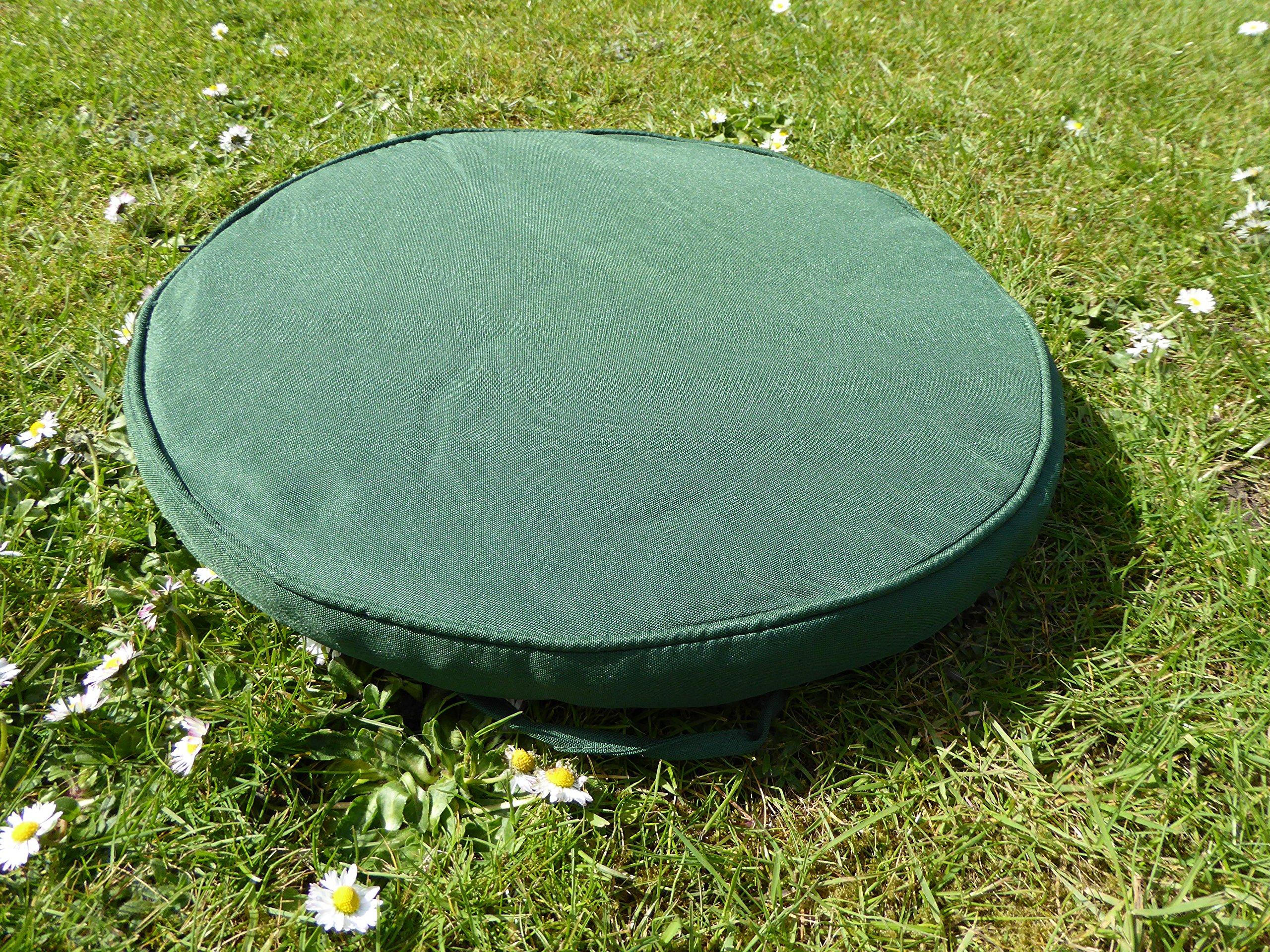 UK-Jardins 38cm Round vert Bistro Meubles de jardin Coussin de chaise Coussin de siège: Amazon.es: Jardín