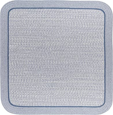 RRI Home Decor Harmony Square Rug 8' x 8' Sunrise Blue