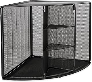 Mesh Corner Desktop Shelf, Five Sections, 20 x 14 x 13, Black (並行輸入品)