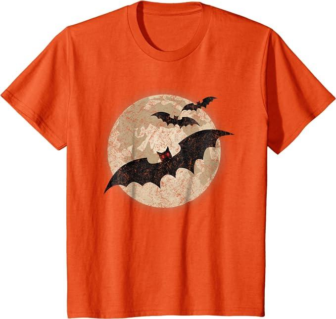 Camisa de Halloween para ni/ñas Murci/élago Calabaza Sudadera