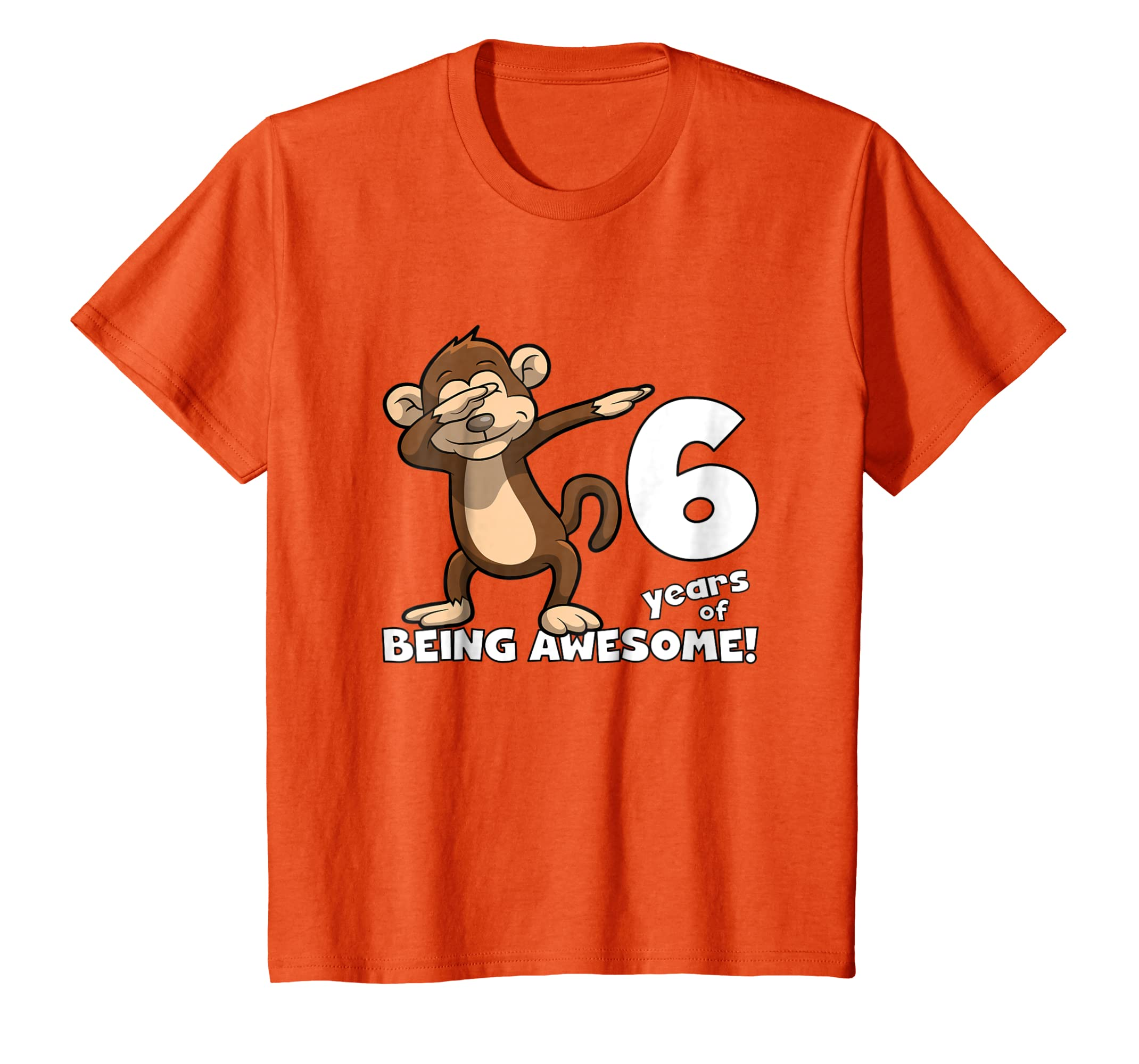 Amazon Kids Awesome 6 Year Old Birthday Shirt Dabbing Monkey Clothing
