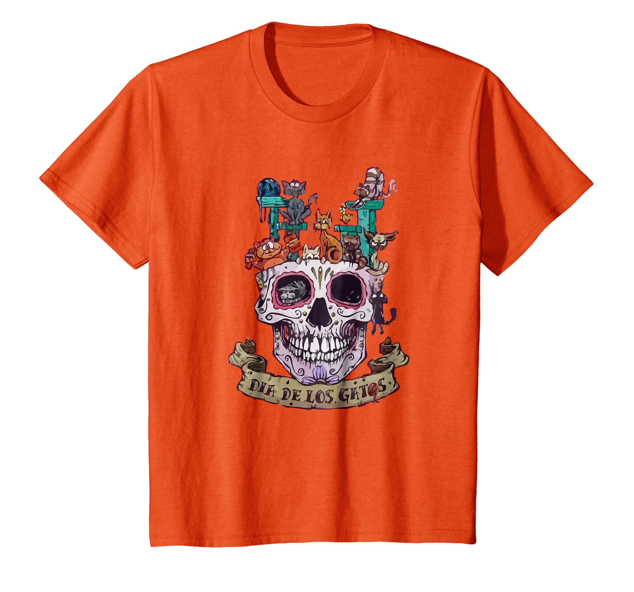 Amazon.com: Womens Day of the Dead Shirt Gato de Azucar Alegrije Shirt: Clothing