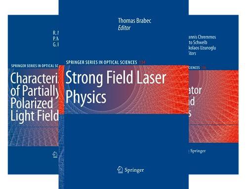 Springer Series in Optical Sciences (50 Book Series)