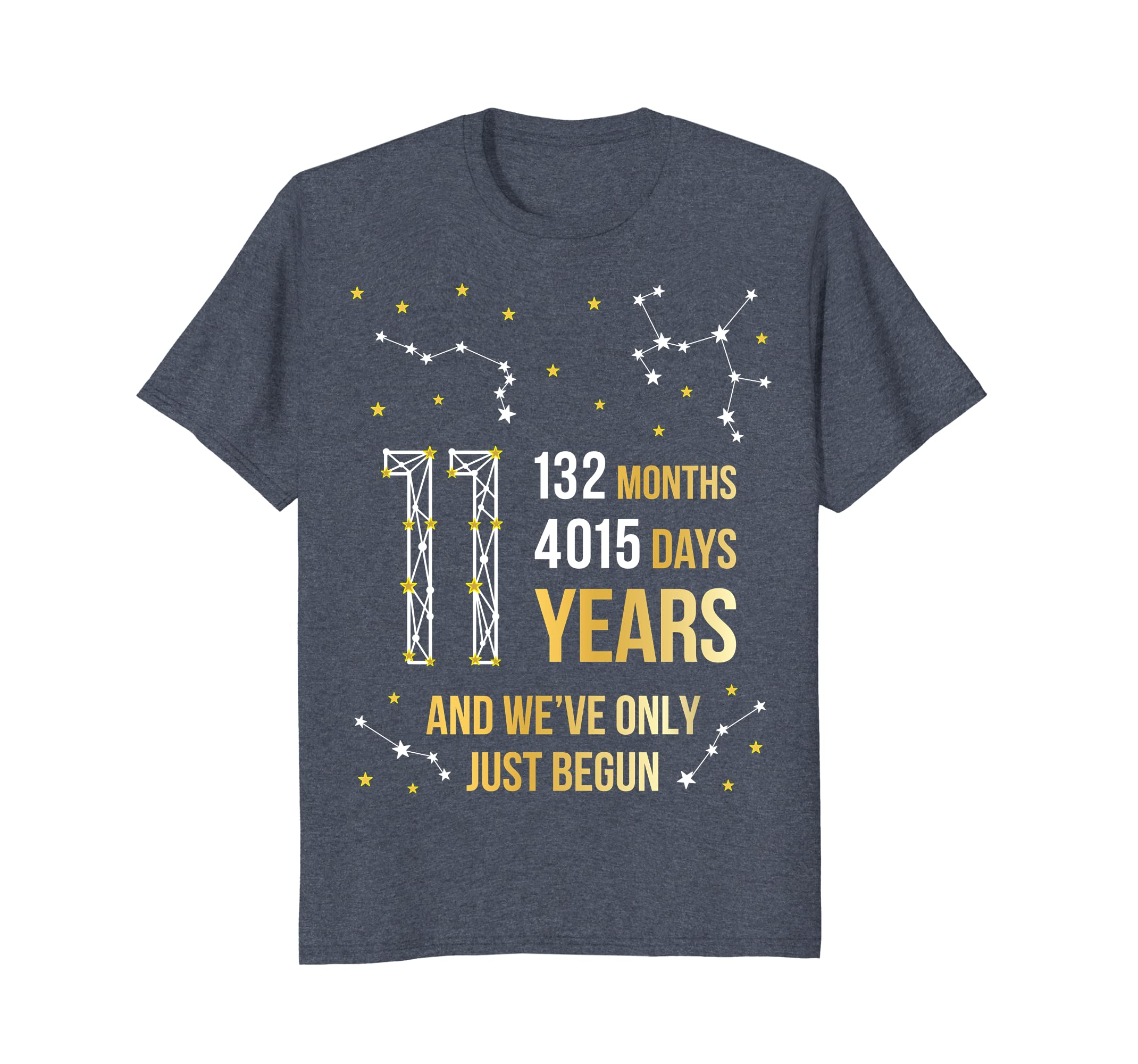 11 Years Anniversary Cute Tee Gift for Her or Him-alottee gift