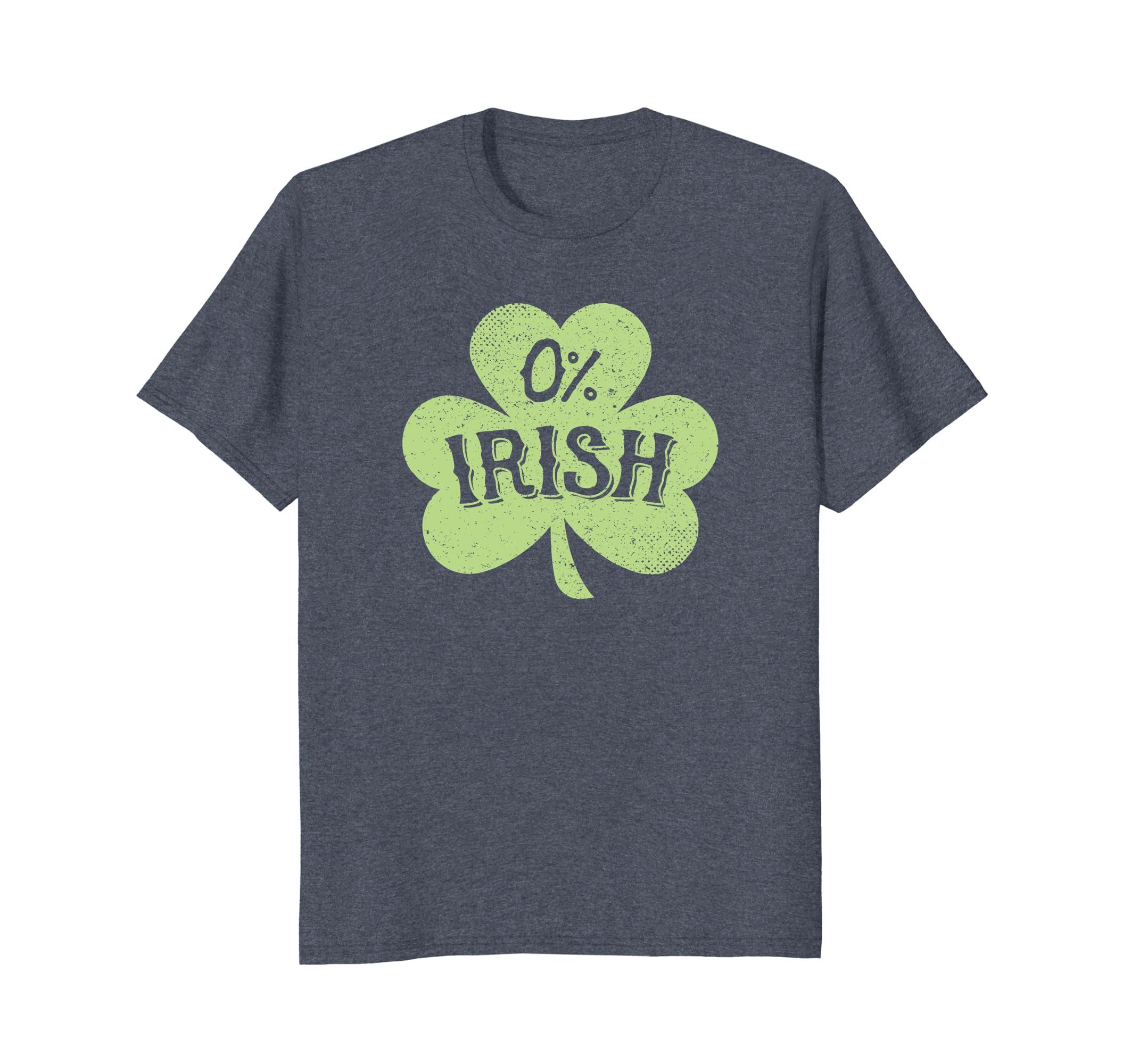df3b37e5 Amazon.com: 0% Irish St. Patrick's Day Shamrock T Shirts: Clothing