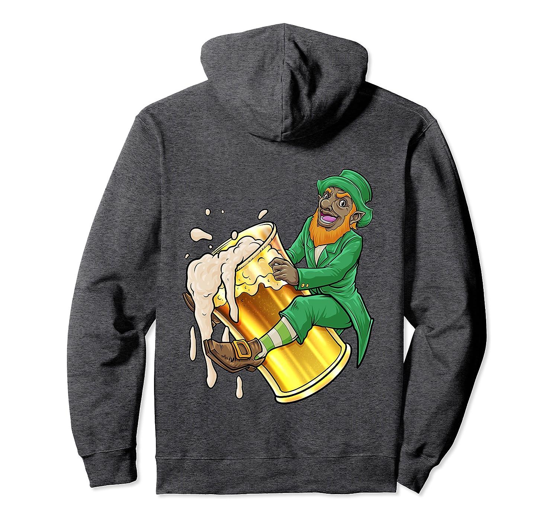Black Leprechaun Beer Gift African American St Patricks Day Pullover Hoodie-Awarplus