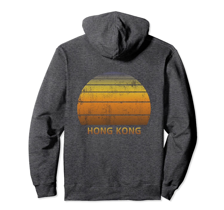 Hong Kong China Vintage Sunset Pullover Hoodie