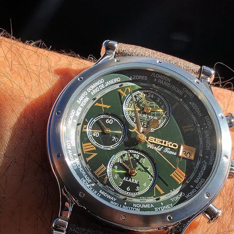 Seiko 精工 Essentials限量版世界时间系列 SPL057 三眼计时 男式手表 镇店之宝¥1261.21