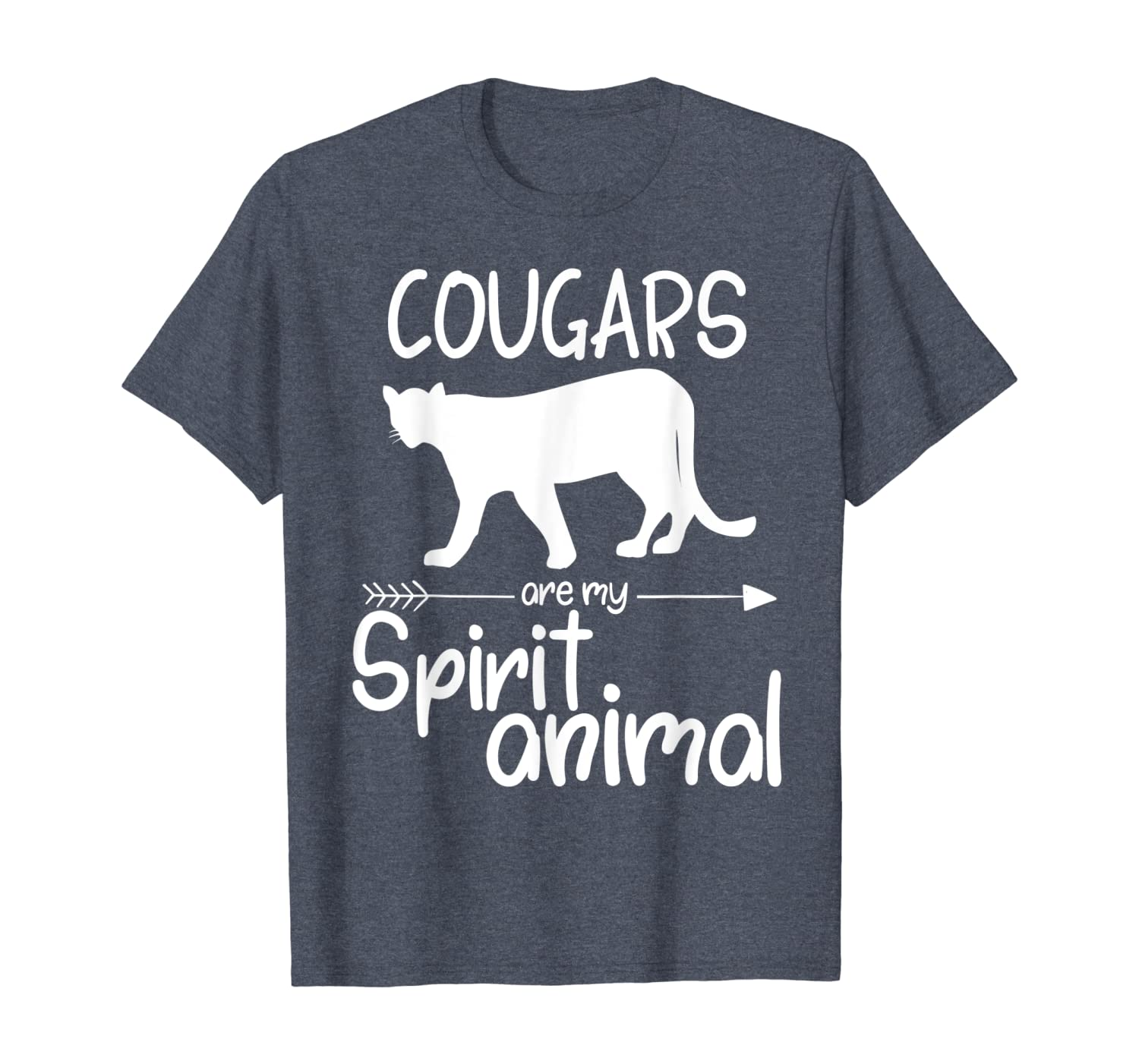 Cougars Are My Spirit Animal Gift For Men Women Puma Panther T-Shirt-ANZ
