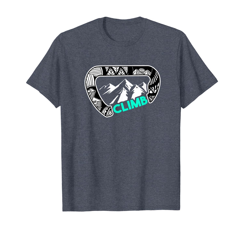 Cool Carabiner Rock Climbing Gift Shirt Climber Bouldering T-Shirt