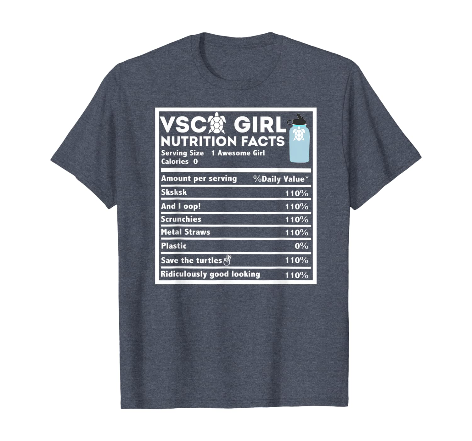 And I oop Sksksks Nutrition Facts Gift For Teen Girls T-Shirt