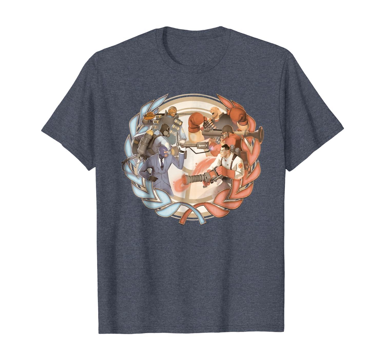 Amazon Com Team Fortress 2 Laurels T Shirt Trs234 Clothing