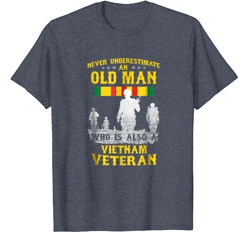 Army Vietnam Veteran Shirt Old Man Vietnam Veteran T-Shirt