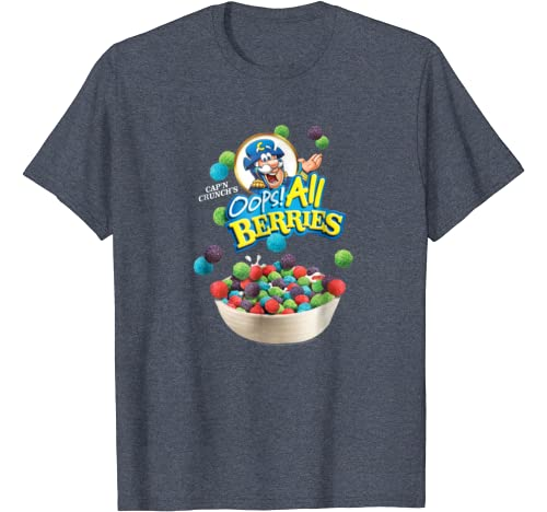 Amazon Com Cap N Crunch Oops All Berries Box Art T Shirt Clothing Add a review for cap'n crunch oops! cap n crunch oops all berries box art t shirt