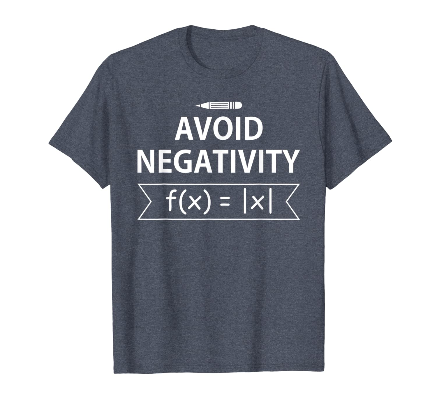 Avoid Negativity Shirt Funny Gifts Math Teacher Math Symbol-TH