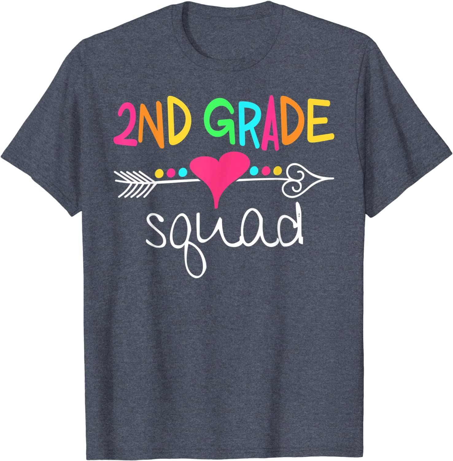 2nd Grade Squad Second Teacher Student Team Back To School T-Shirt-TH
