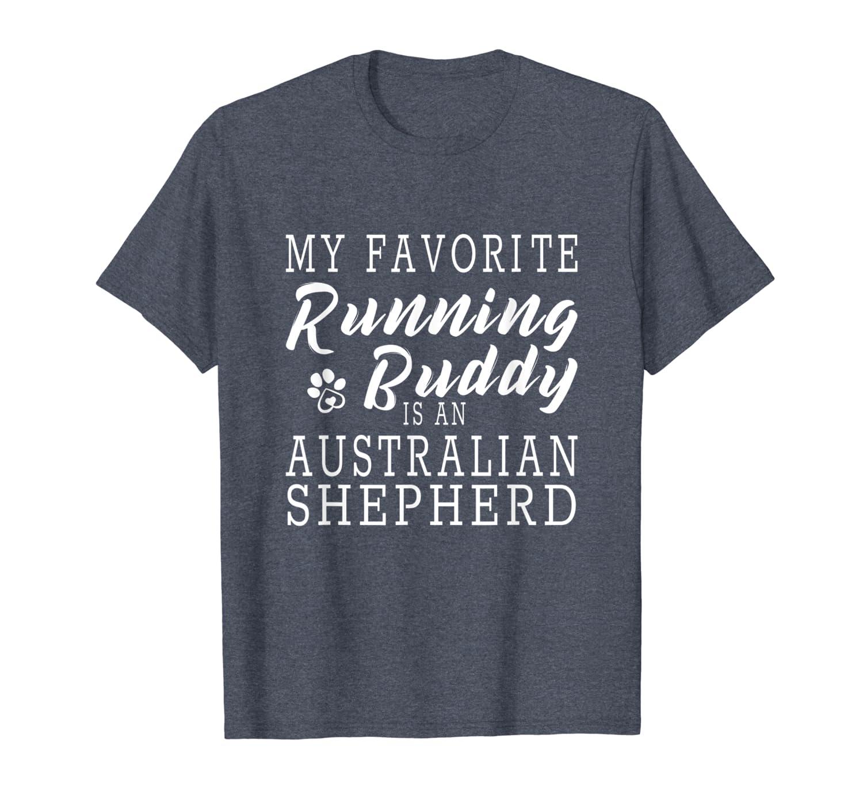 Australian Shepherd Dog Running - Fun Pet Lover Jogging Gift T-shirt - Dogs Shirts For Men Women