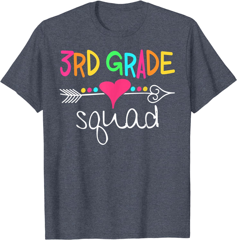 3rd Grade Squad Third Teacher Student Team Back To School T-Shirt-TH