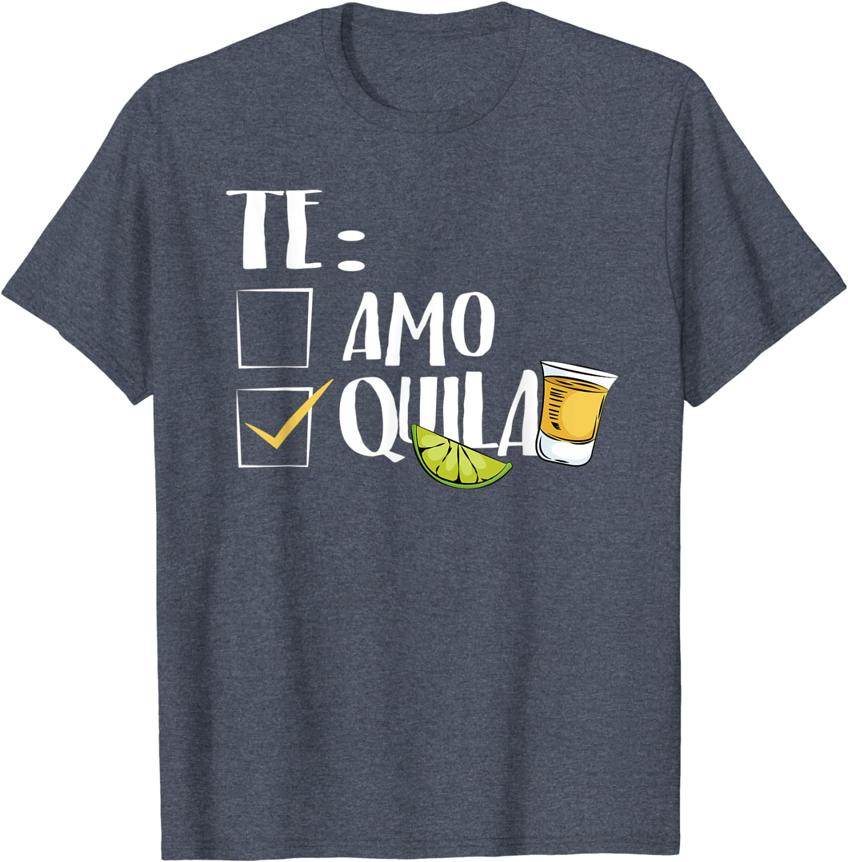 Te Amo or Tequila Long Sleeve T-Shirt Funny Cinco De Mayo /& Drinko Mexican Tee