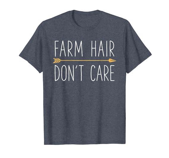 7c4998c613d7a Farm Hair Don't Care T Shirt Farming Farmer Men Women Gifts