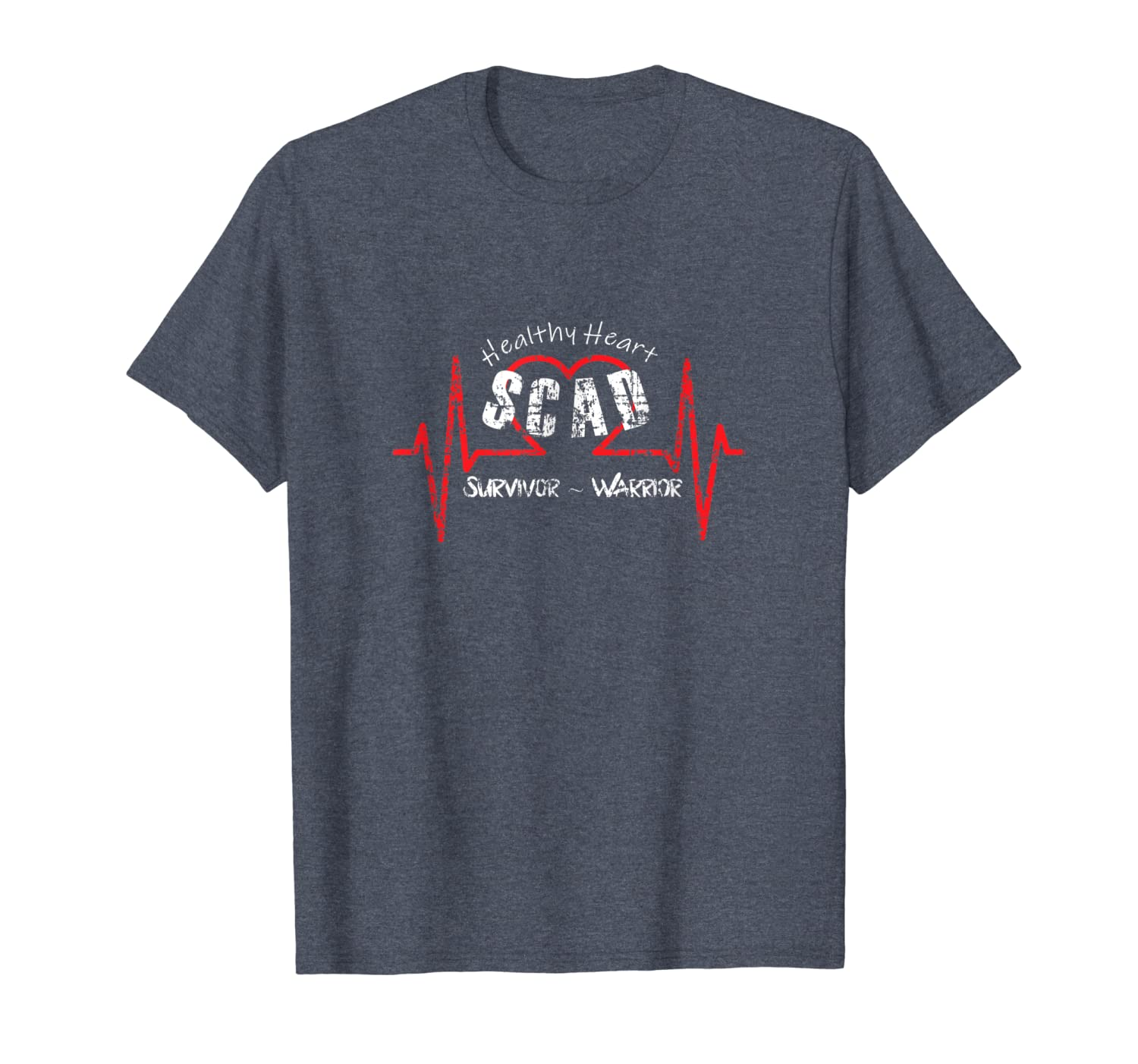 SCAD Heart Attack Women T-Shirt Survivor Warrior Gift Shirt-ANZ