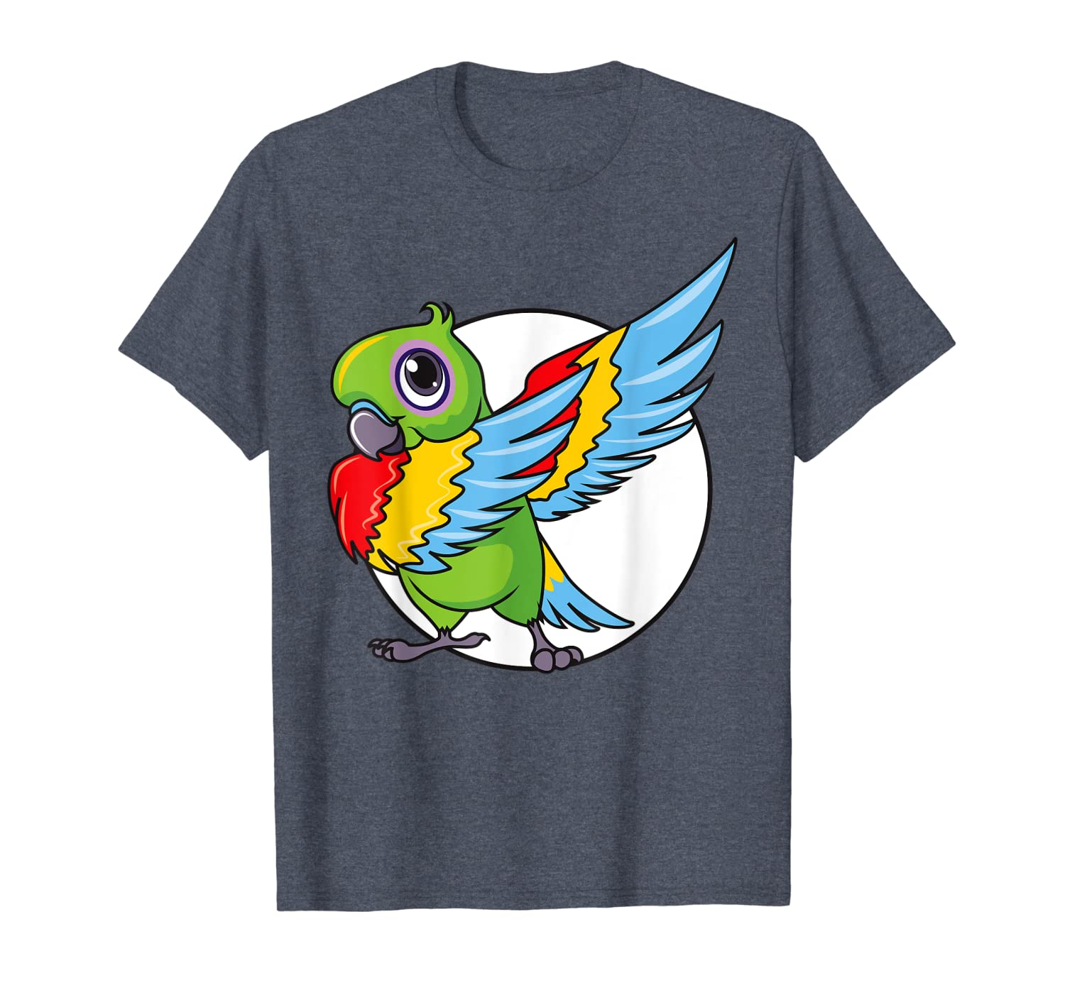 Cute Dabbing Great Green Macaw Parrot Bird Women Mens Girls T-Shirt-ANZ