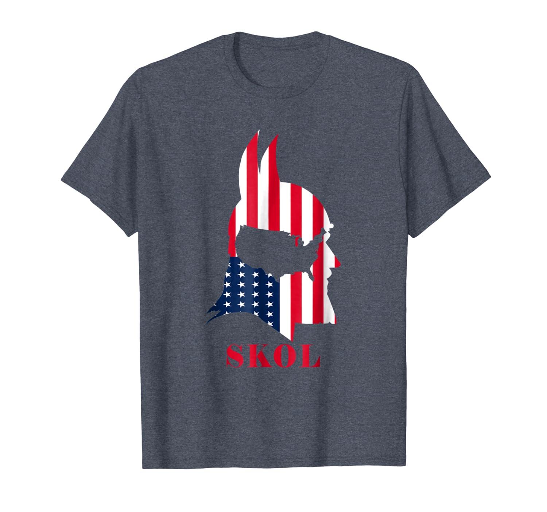 Skol helmet Vikings minnesota usa flag shirt for men women-TH