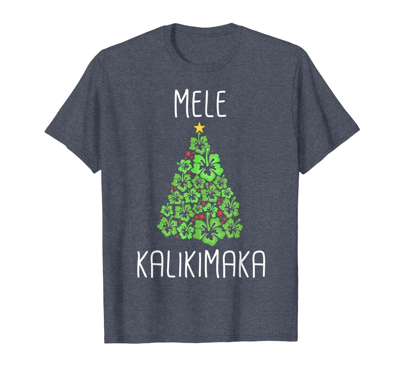 Hawaiian Christmas Tree Mele Kalikimaka Hawaii Tropical T-Shirt