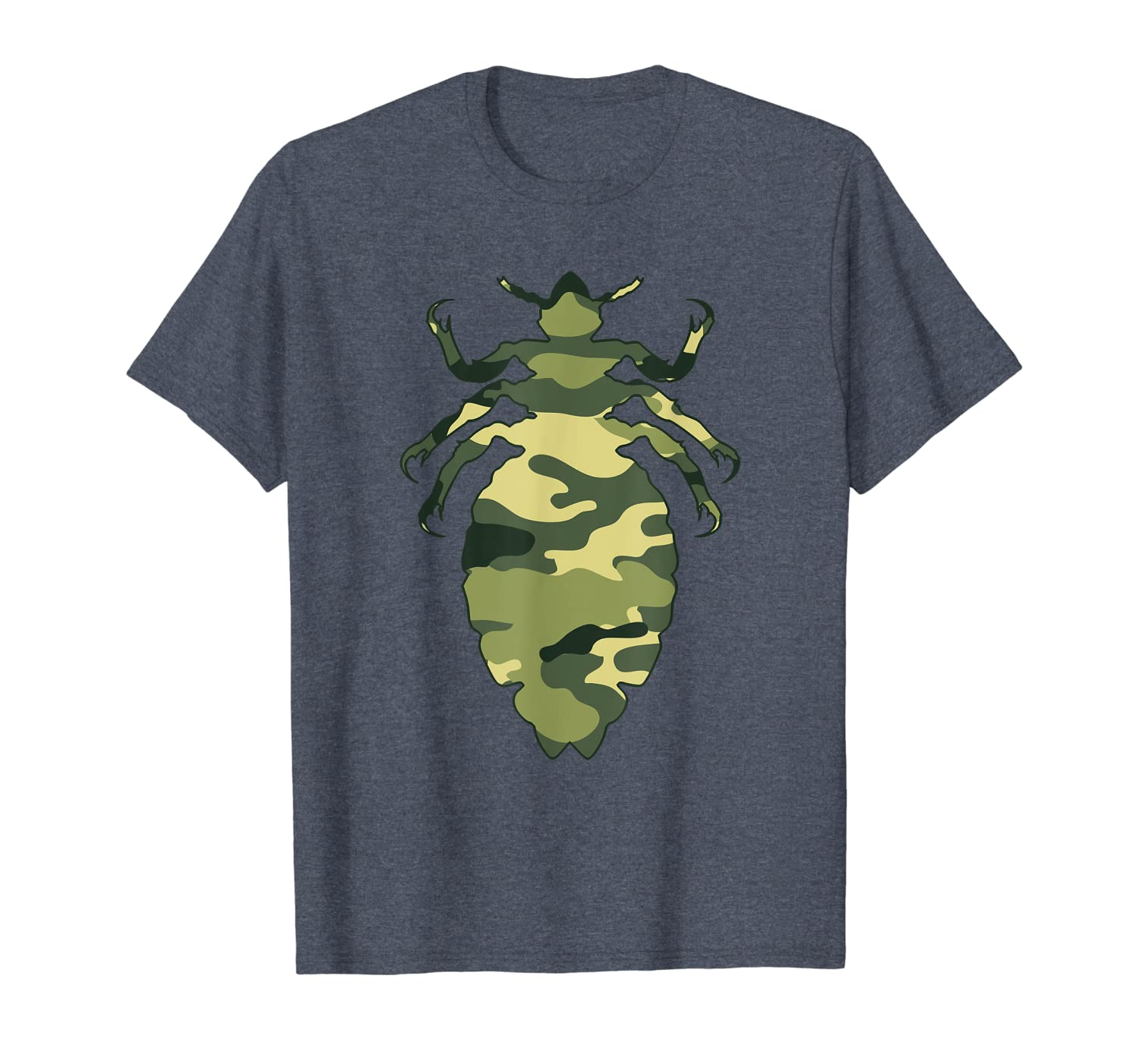Military Louse Camo Men Print US Insect Lice Veteran Gift T-Shirt-ANZ