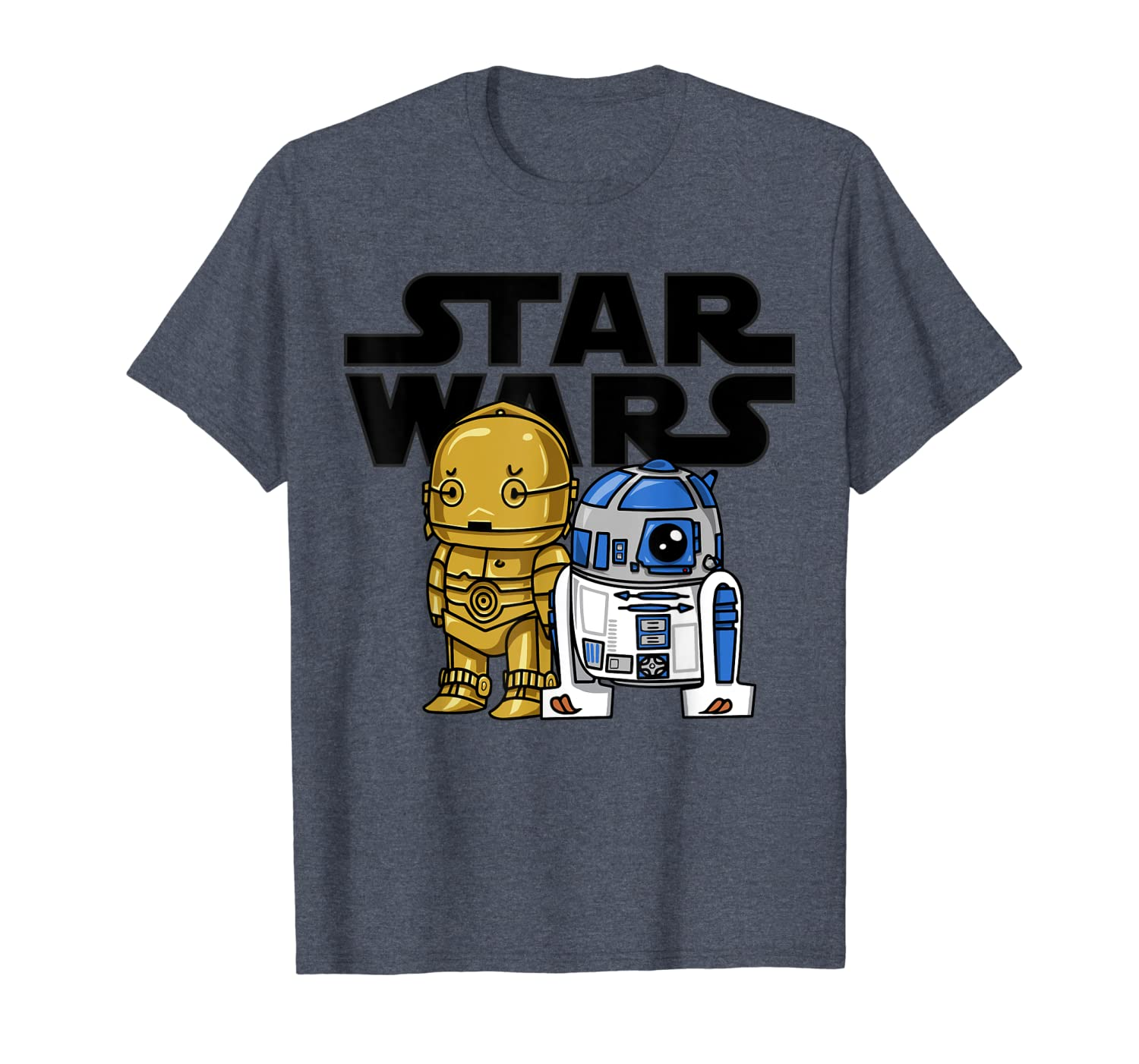 Star Wars Boba R2-D2 and C-3PO Cute Cartoon Graphic T-Shirt