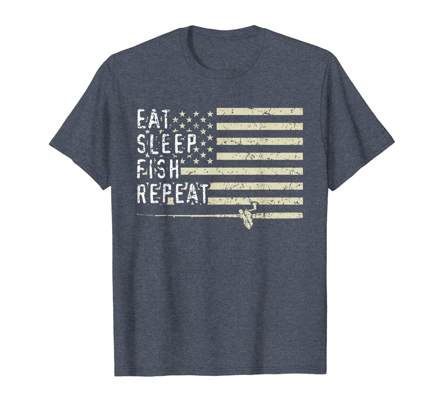 Eat Sleep Fish Repeat Funny Bass Fishing Fathers Day Gifts T-Shirt Unisex Tshirt