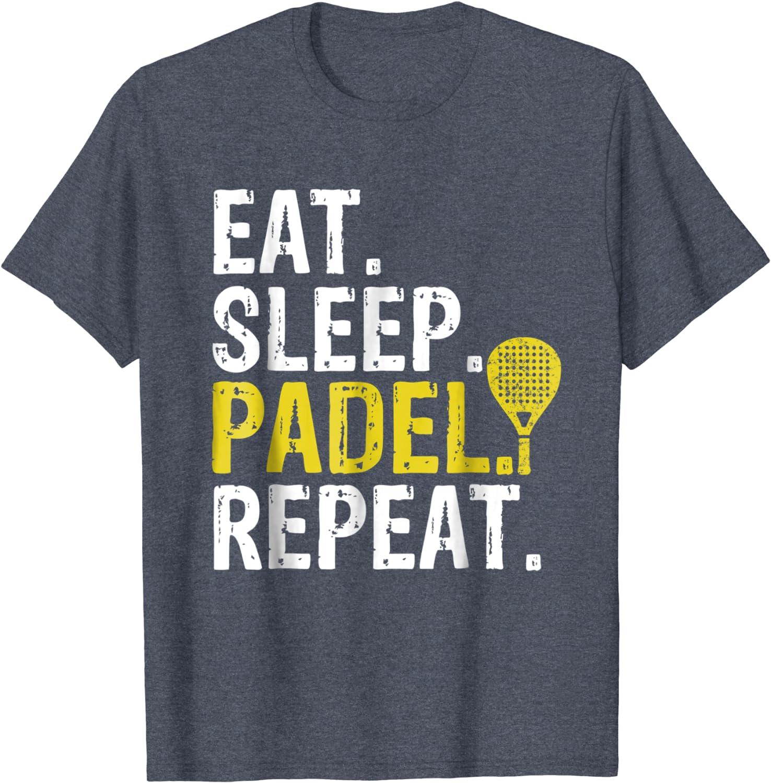 Eat Sleep Padel Repeat Sports Game Fan Gift T-Shirt-ANZ