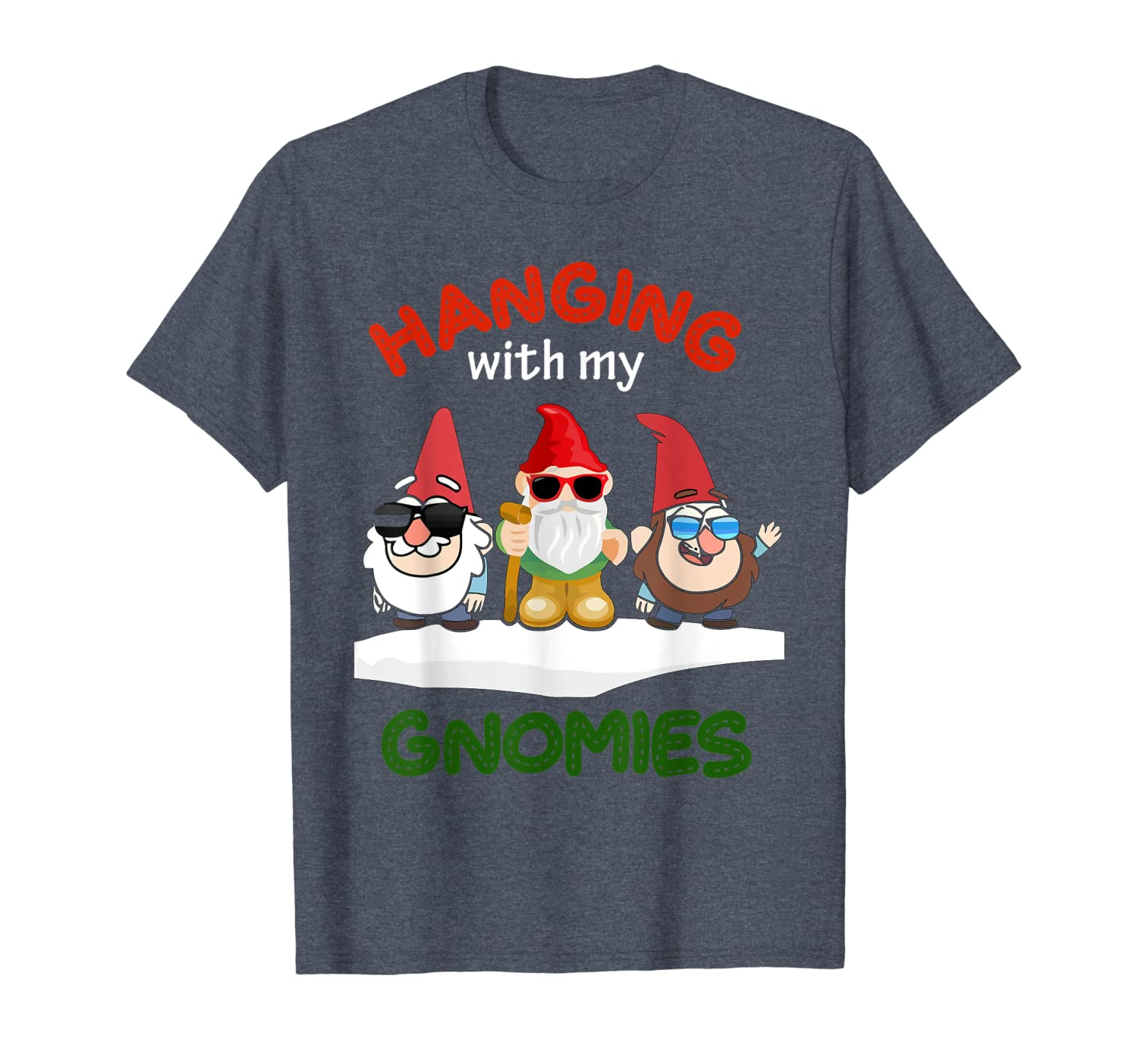 Hanging With My Gnomies Tee Christmas Nordic Gnome Santa T-Shirt-TH
