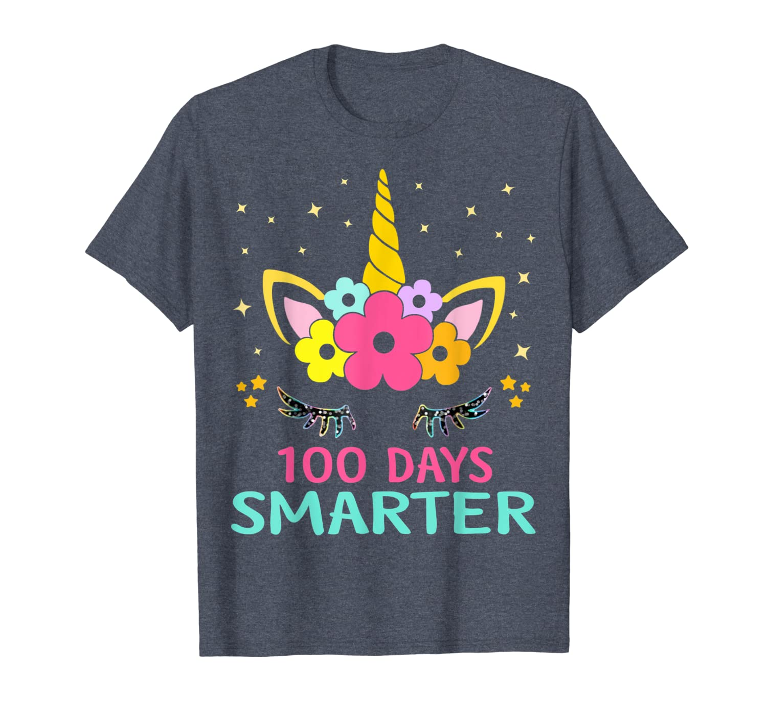 100 Days of School Shirt Unicorn Girls Costume Gift Tee T-Shirt Unisex Tshirt