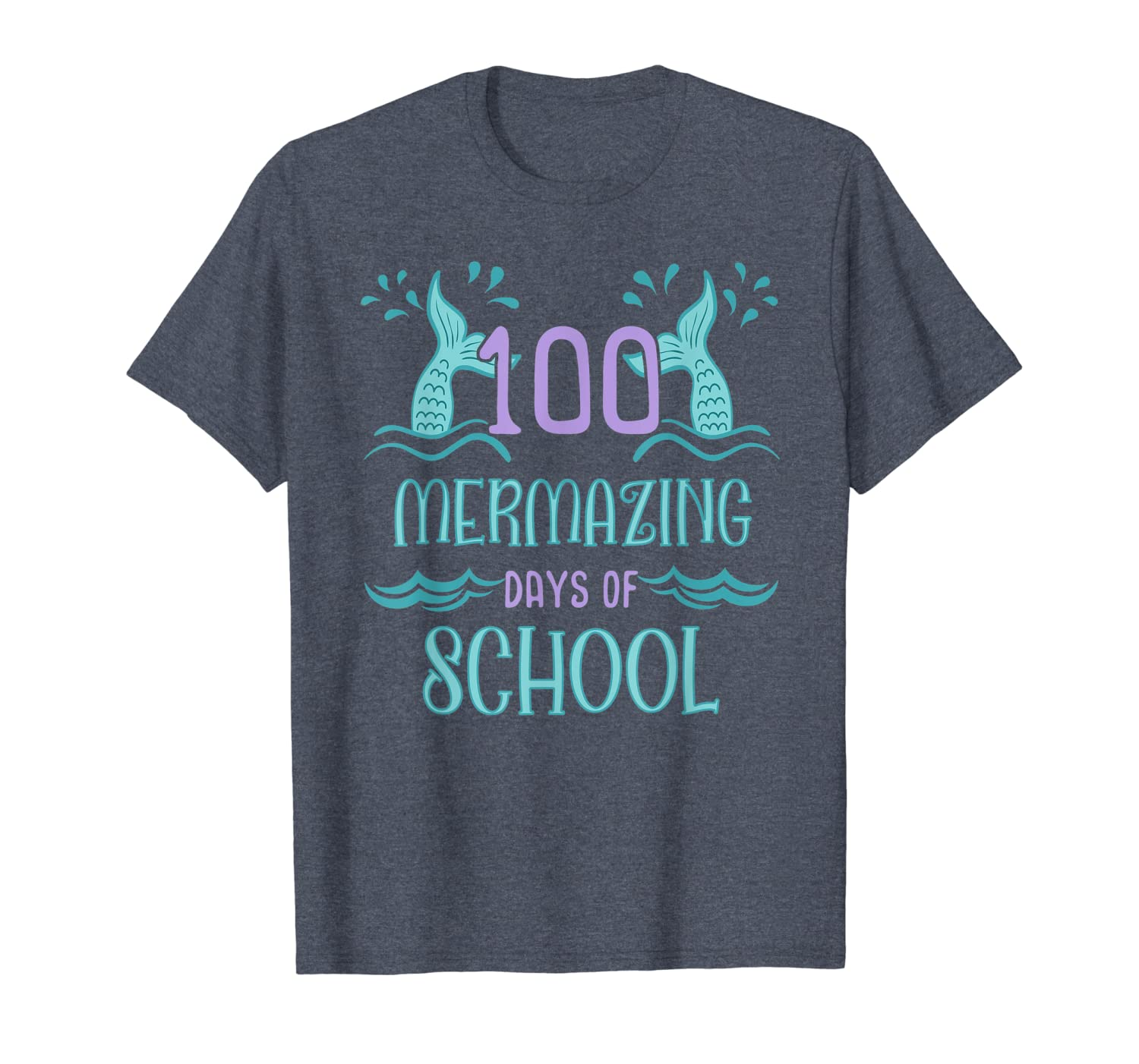 100 Days of School Shirt for Girls Mermaid Gift T-Shirt Unisex Tshirt