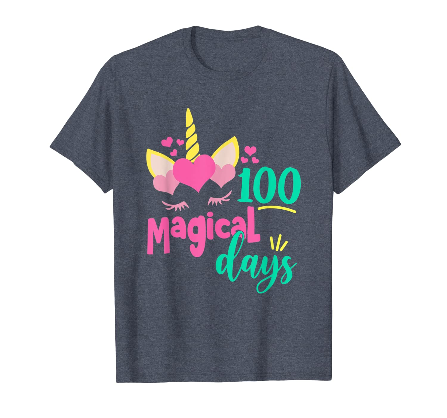 100 Magical Days 100th Day of School Girl Unicorn Costume T-Shirt Unisex Tshirt