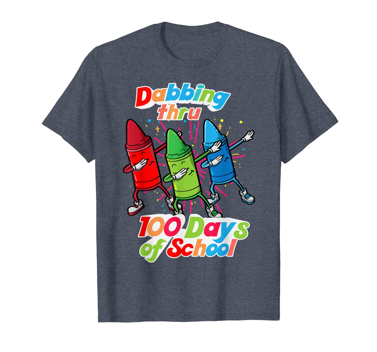 100th Day Of School Dabbing Crayon T-Shirt Unisex Tshirt