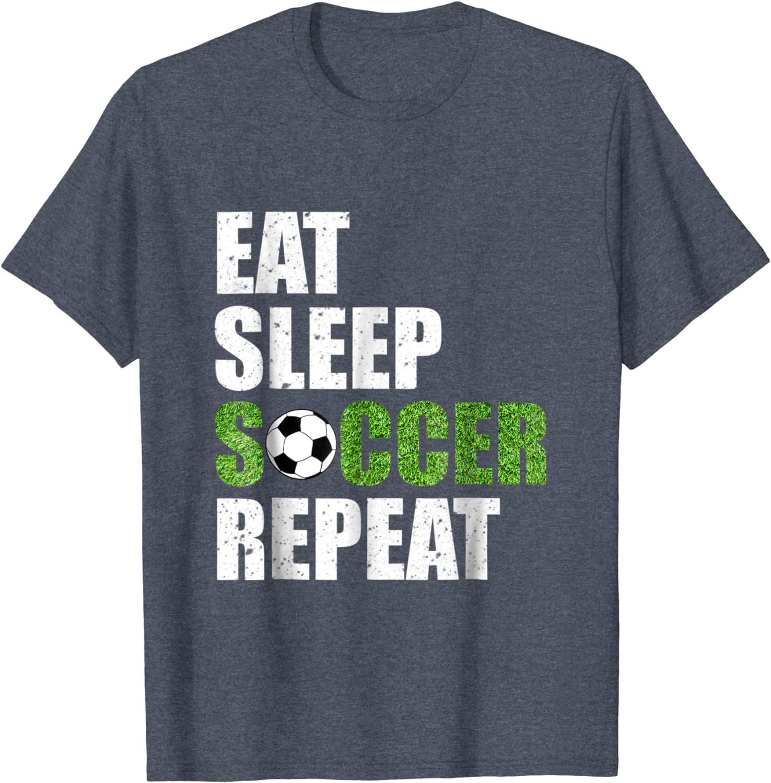 Eat Sleep Soccer Repeat T-Shirt Soccer player Gift Shirt-ANZ