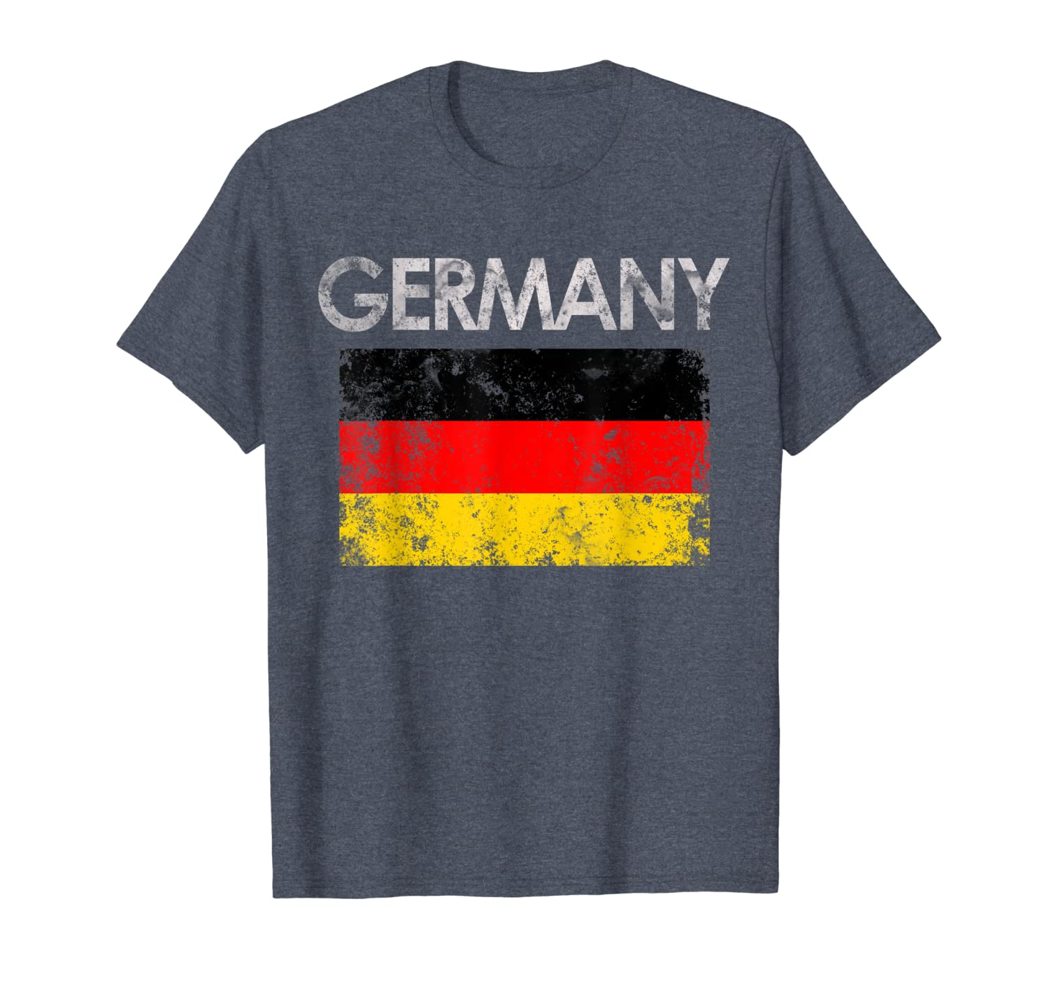 Vintage Germany German Flag Pride Gift T-Shirt-TH