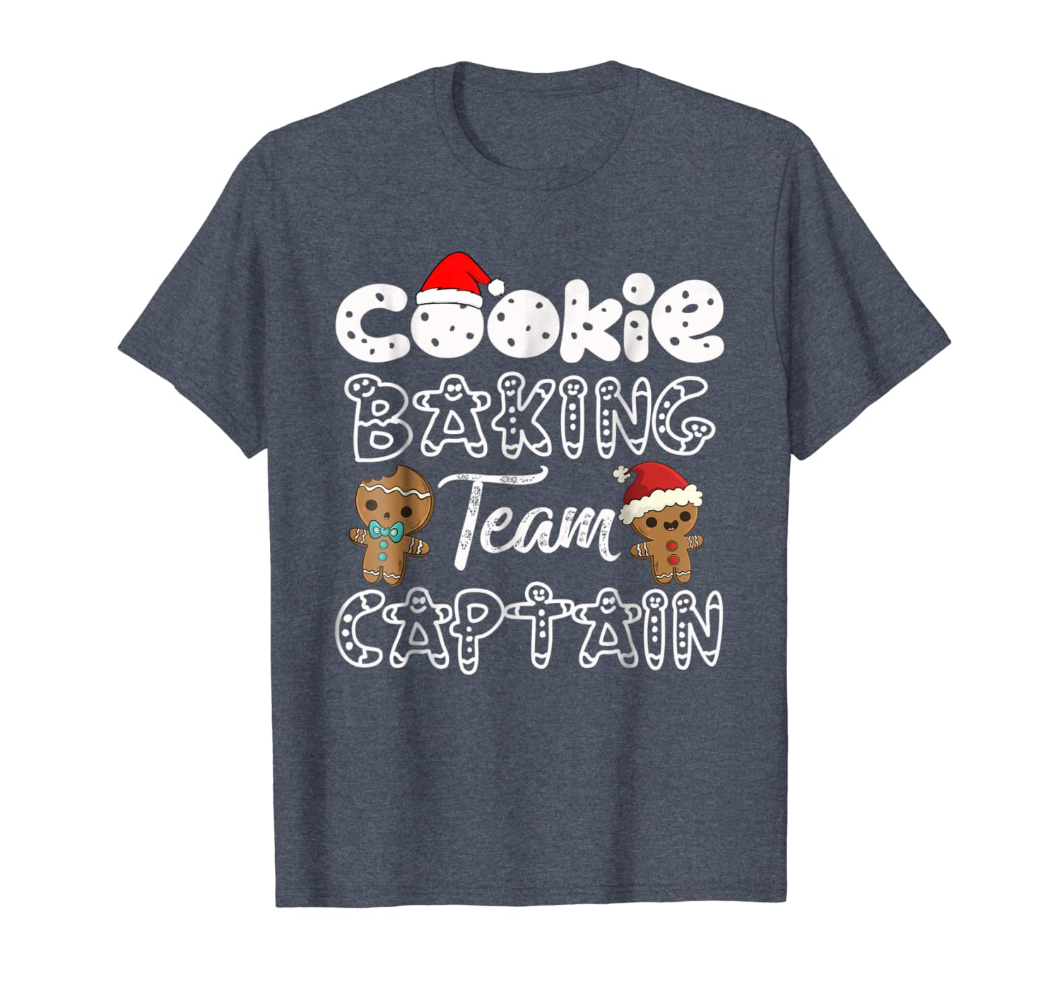Cookie Baking Team Captain Gingerbread Christmas T-Shirt-TH