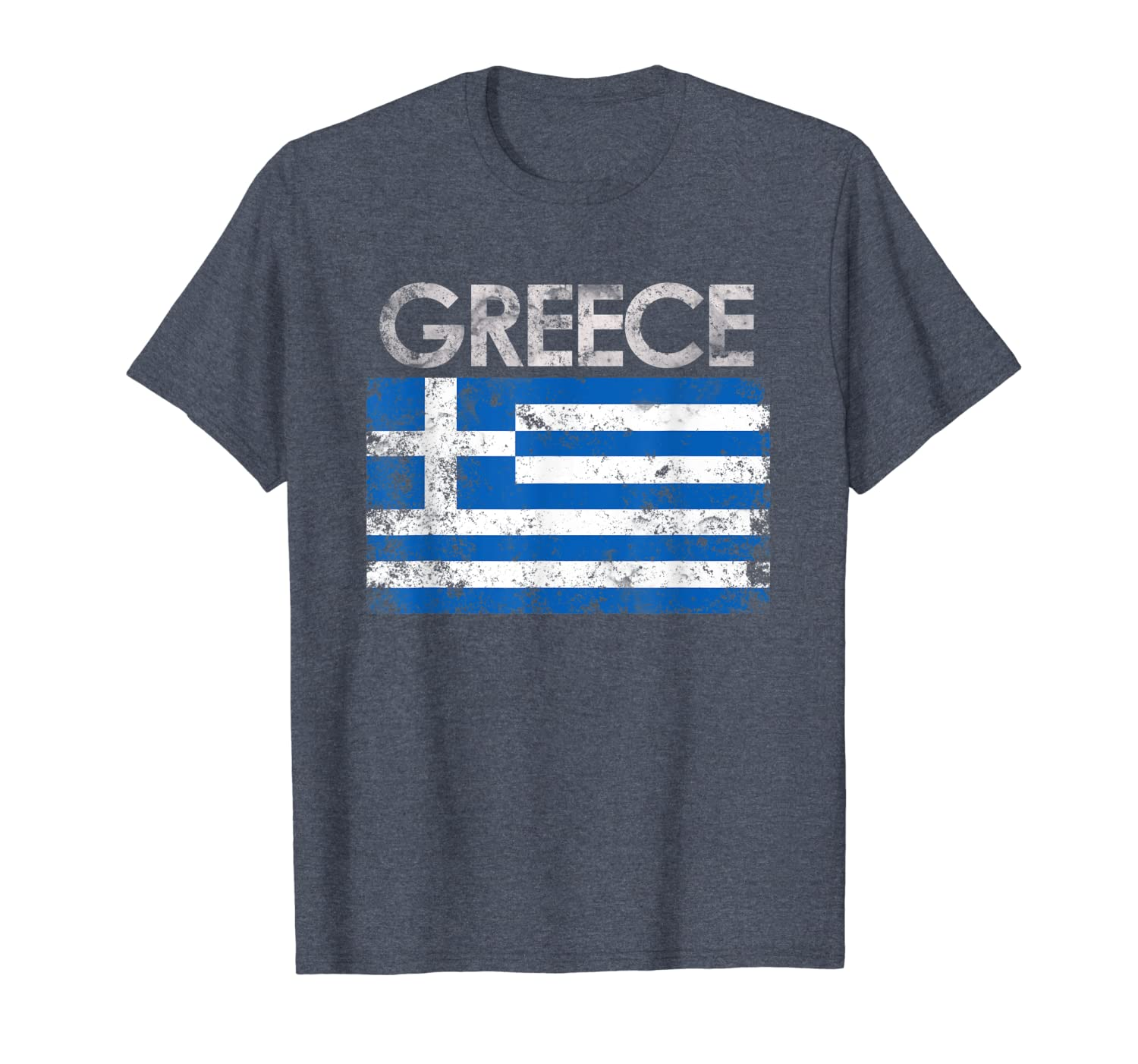 Vintage Greece Greek Flag Pride Gift T-Shirt-TH