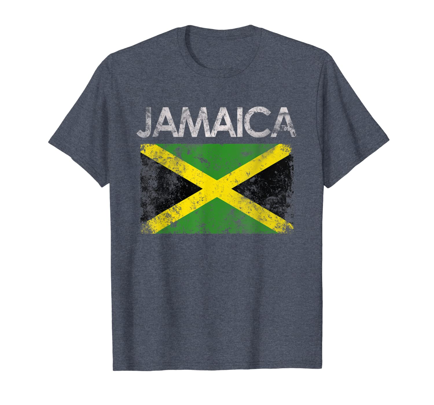 Vintage Jamaica Jamaican Flag Pride Gift T-Shirt-TH