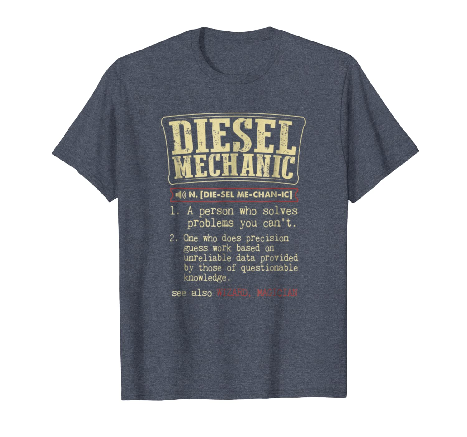 Funny Diesel Mechanic meaning t shirts vintage design-ANZ
