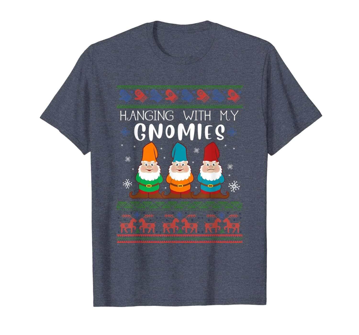 Garden Gnome lover Christmas tee Hanging With My Gnomies T-Shirt-TH