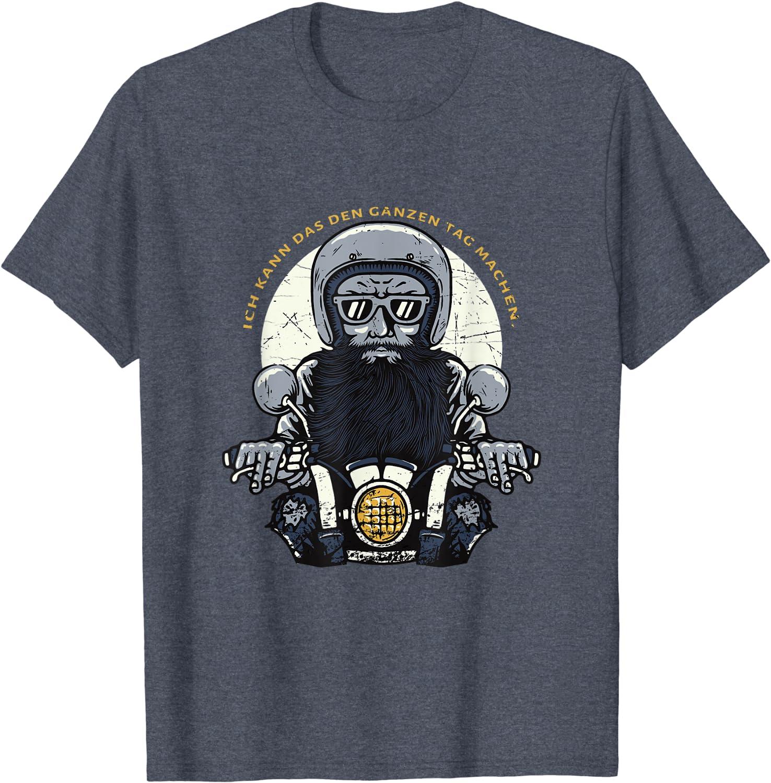 El piloto de motos en Beard Vintage Funny Statement Camiseta