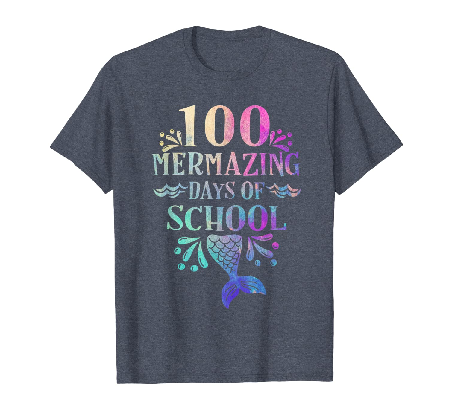 100 Days of School Shirt for Girls Mermaid Happy 100th day T-Shirt Unisex Tshirt