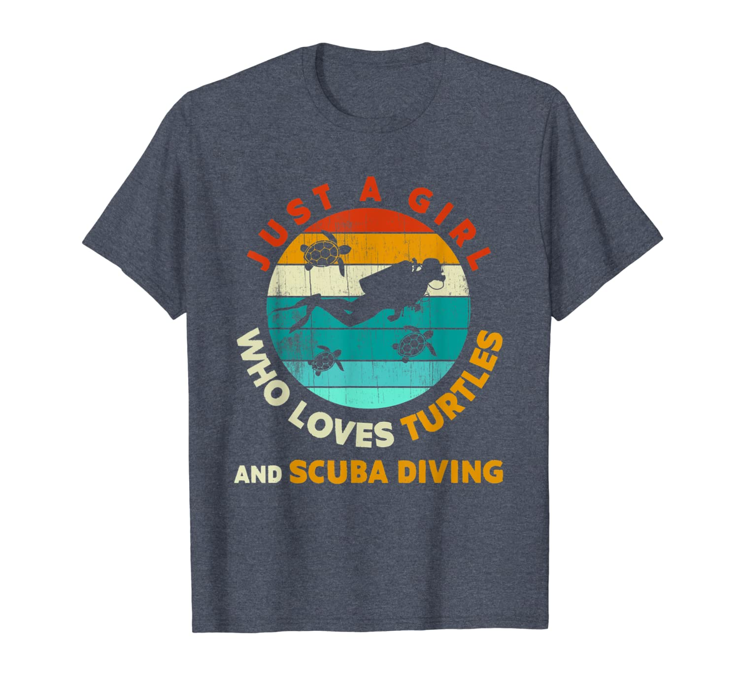 Scuba Diver Gift- A Girl Who Love Turtles And Scuba Diving T-Shirt Unisex Tshirt