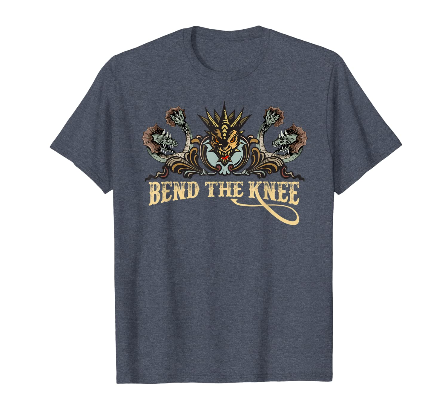 Bend The Knee To the Mother Dragon Queen Cosplay Design Gift T-Shirt-TH