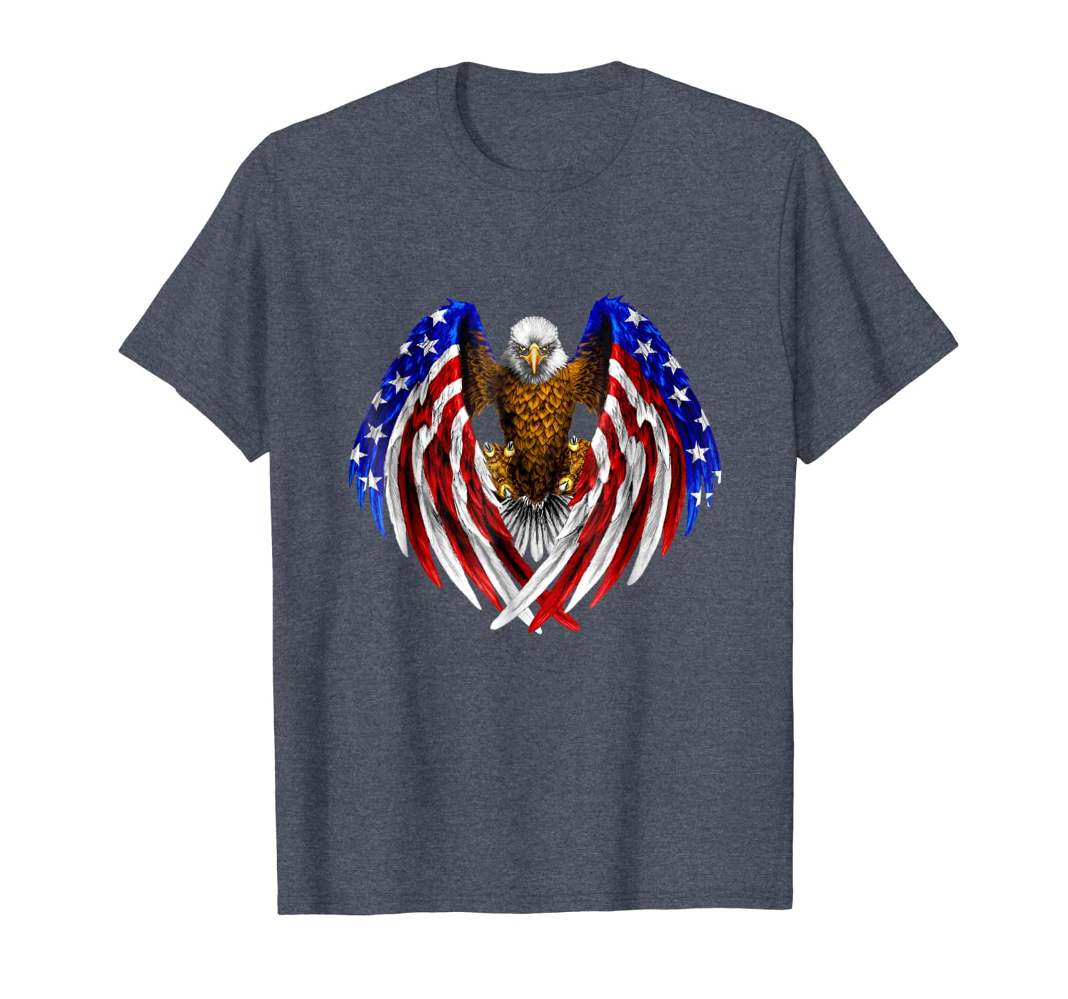 American Eagle Patriot T-Shirt US Flag With Eagle Gift Shirt-TH
